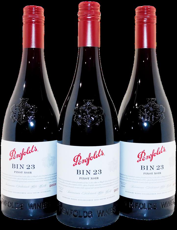 Penfolds Bin 23 Pinot Noir 2019 (3x 750mL), AUS