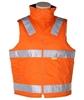 2 x WORKSENSE Day/Night Cotton Drill Vests, Size3XL, Cotton Lining, 3M Refl