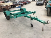 Unreserved Custom Made Single Axle Plant Trailers