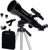 CELESTRON Celestron Travel 70mm f/5.7 AZ Refractor Telescope Kit, Black, 70