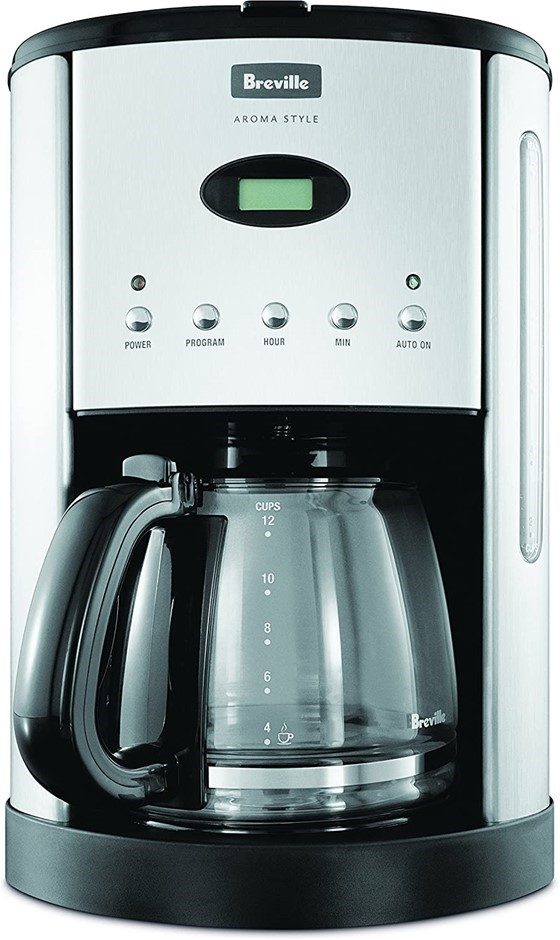 BREVILLE Aroma Style Electronic Coffee Maker, Colour: Black. Buyers Note -