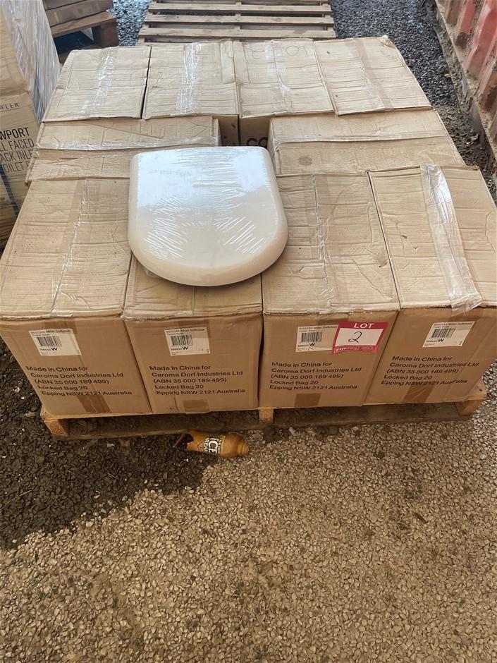 Qty 40 x Caroma MILAN Soft Close Toilet Seats