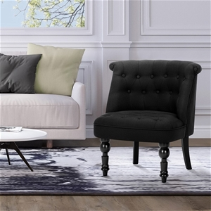 Artiss Linen Fabric Occasional Accent Ch