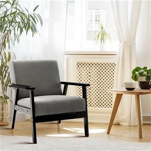Artiss Fabric Dining Armchair - Black &