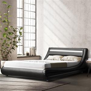 Artiss LED Bed Frame King Mattress Base