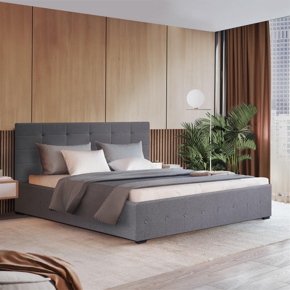 Artiss LISA Double Full Size Gas Lift Bed Frame Base Storage Mattress Grey