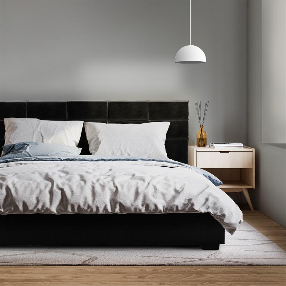 Artiss LISA Queen Size Gas Lift Bed Frame Base Storage Mattress Black
