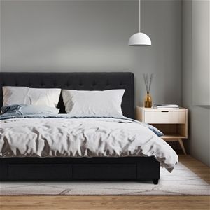 Artiss King Size Fabric Bed Frame Headbo
