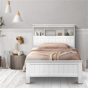 Artiss King Single Bookshelf Bed Frame -