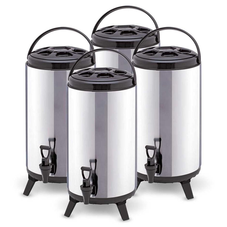 SOGA 4x 12L Portable Insulated Coffee Tea Beer Barrel Brew Pot W/ Dispenser