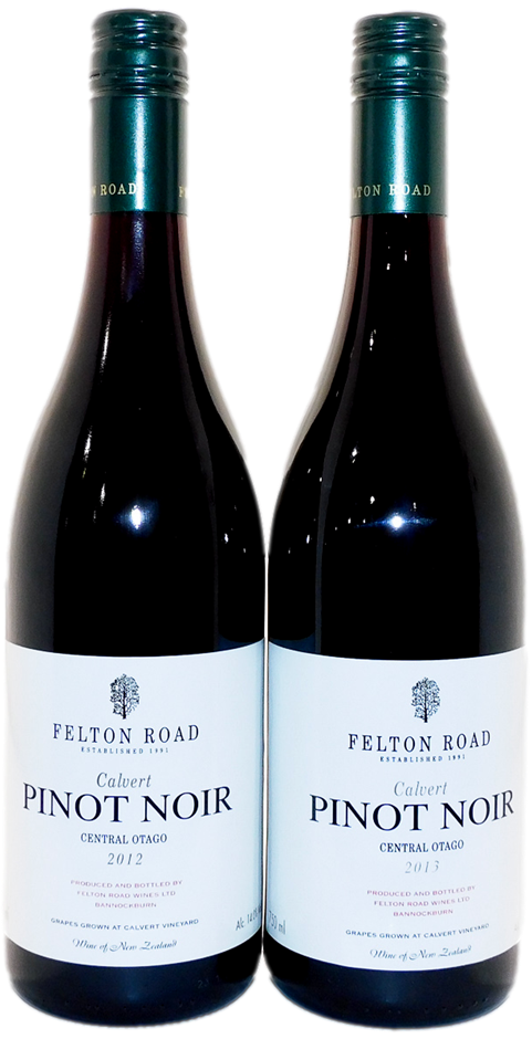 Felton Road Calvert Pinot Noir 2012/2013 (2x 750mL), NZ. 5* Prov!