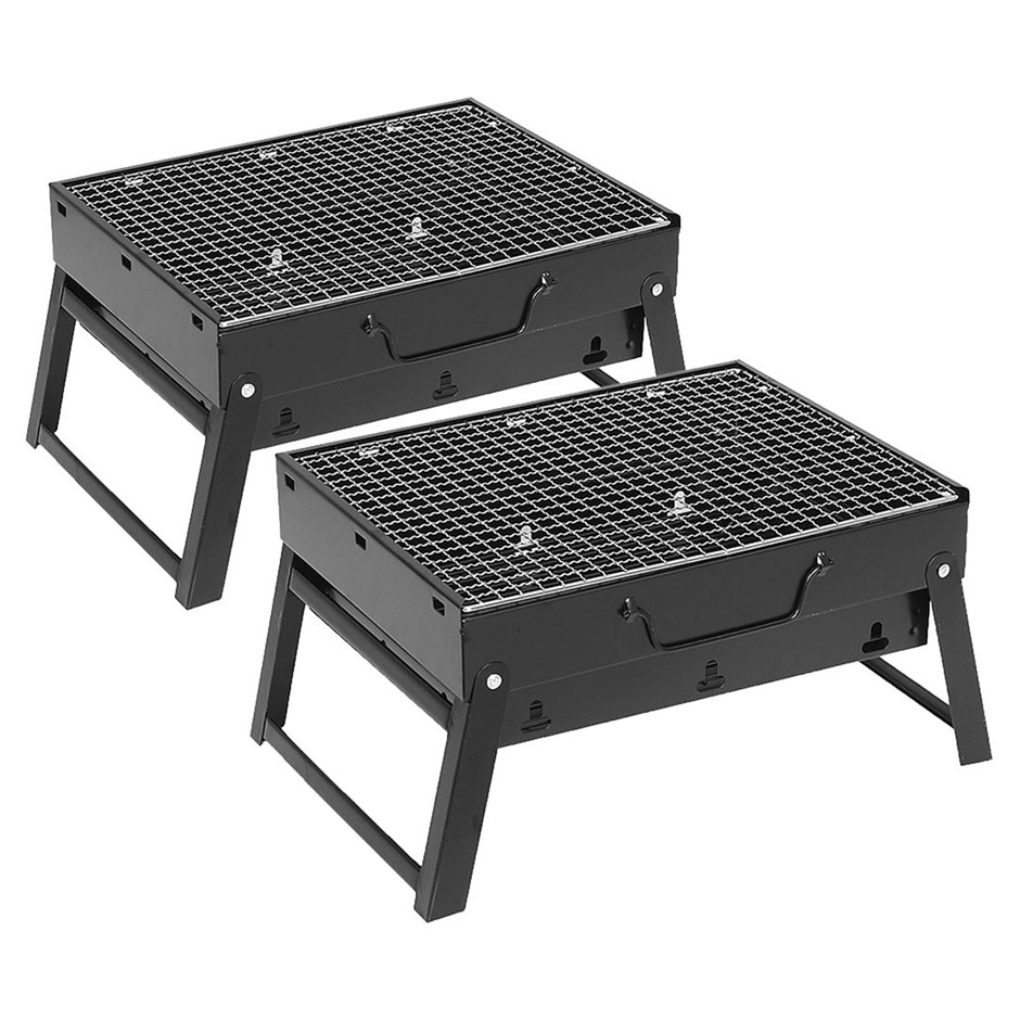 SOGA 2X Portable Mini Folding Thick Box-type Grill for Outdoor BBQ
