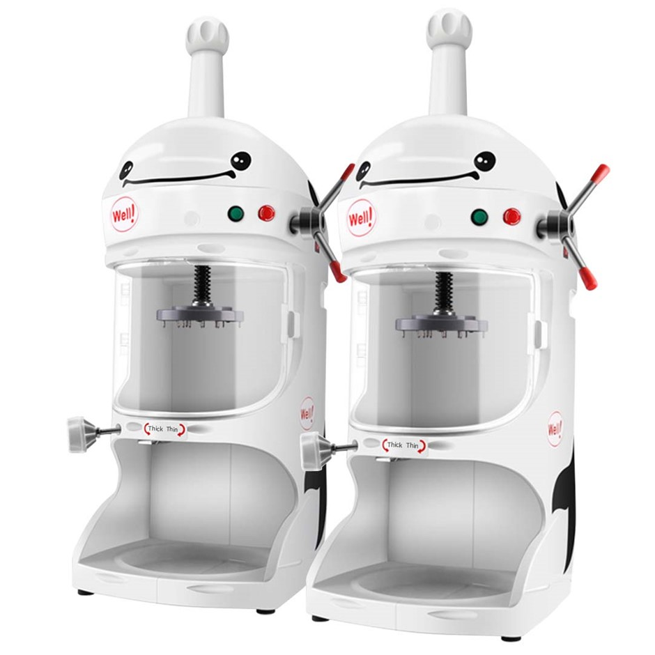 SOGA 2X 350W Commercial Ice Shaver Crusher Machine Snow Cone Maker