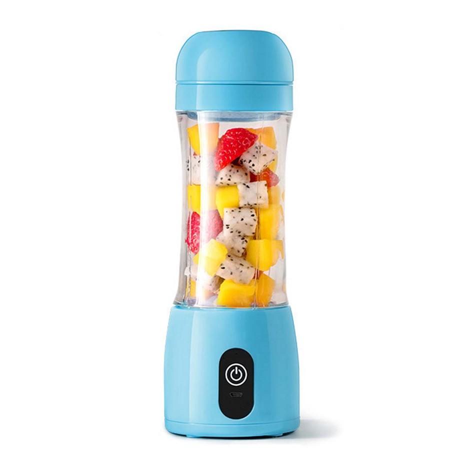 SOGA 380ml Portable Mini USB Rechargeable Handheld Fruit Mixer Juice Blue
