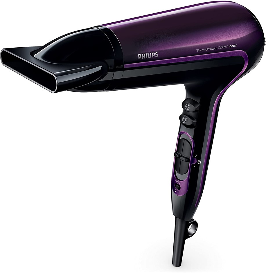 PHILIPS DryCare Advanced Hair Dryer with Ionic Conditioning, Colour: Black/