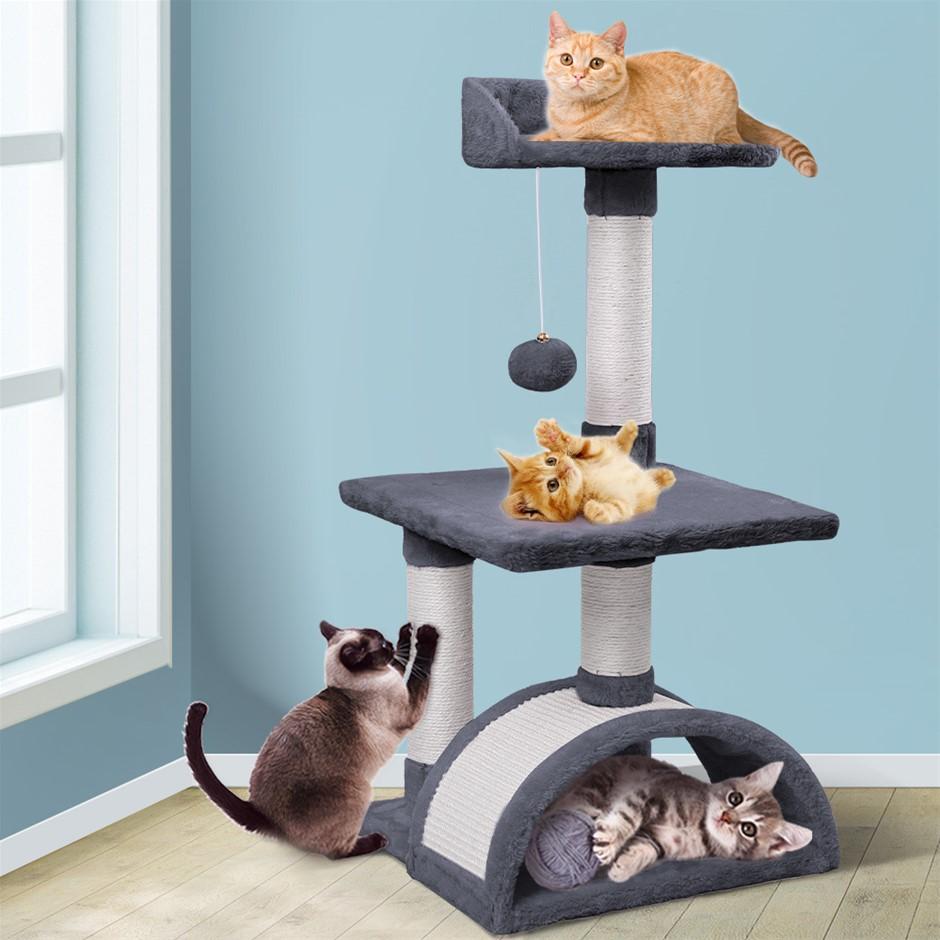 BEASTIE Cat Tree Scratching Post Scratcher Tower Condo Furniture Wood 82cm