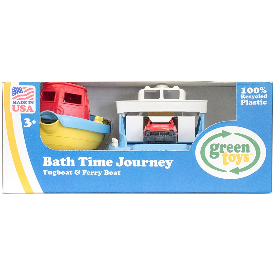 GREEN TOYS Bath Time Journey, Tugboat & Ferry Boat. Buyers Note - Discount