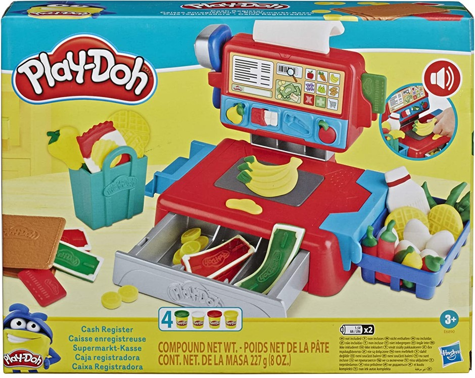 HASBRO Play-Doh - Cash Register Toy - with Fun Sounds , Play Food Accessori