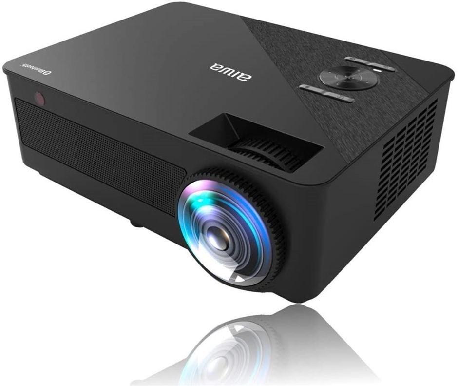 "AIWA Wi-Fi Multimedia Projector with Bluetooth Audio 9000 lumens 165"" Image"