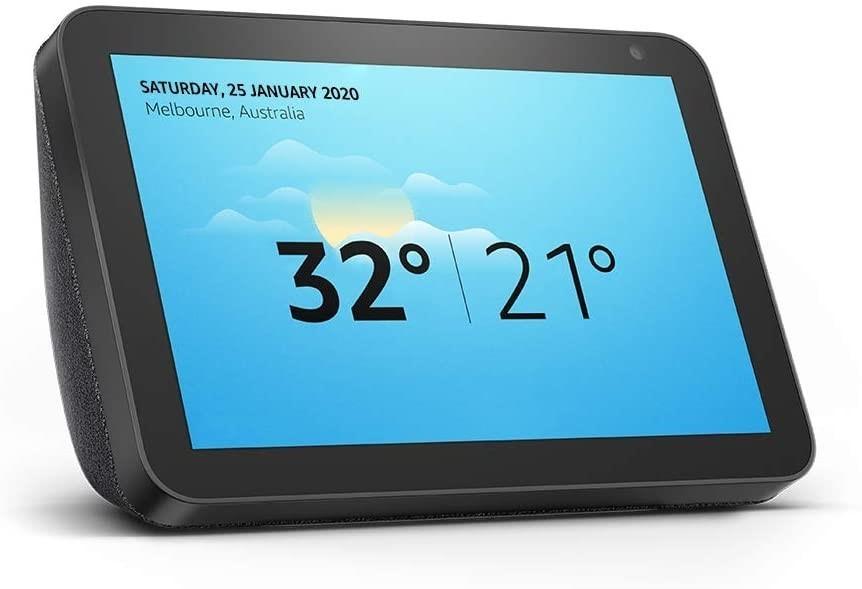 "AMAZON Echo Show 8 (1st Gen) - HD 8"" Smart Display with Alexa, Charcoal Fab"