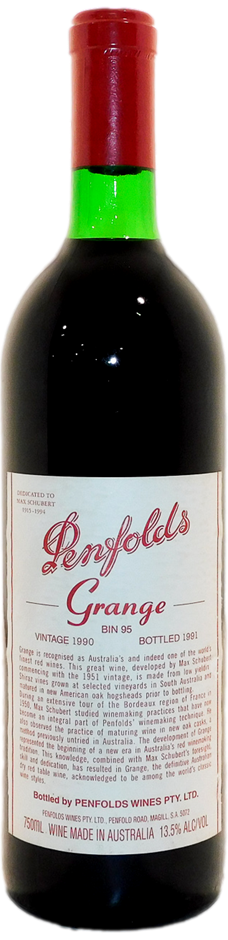 Penfolds Bin 95 Grange 1990 (1x 750mL), SA