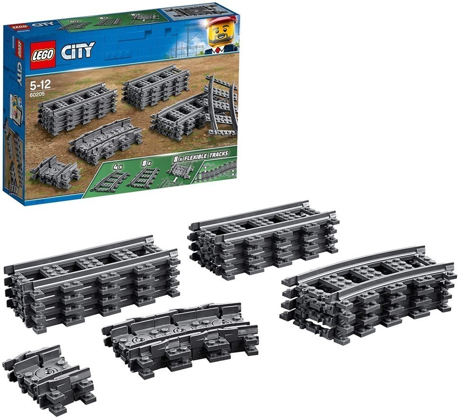 2 x LEGO City Tracks 60205 Playset Toy. Buyers Note - Discount Freight Rate