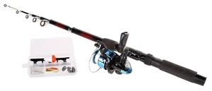 Telescopic Fishing Rod 2M, c/w Reel & Ac