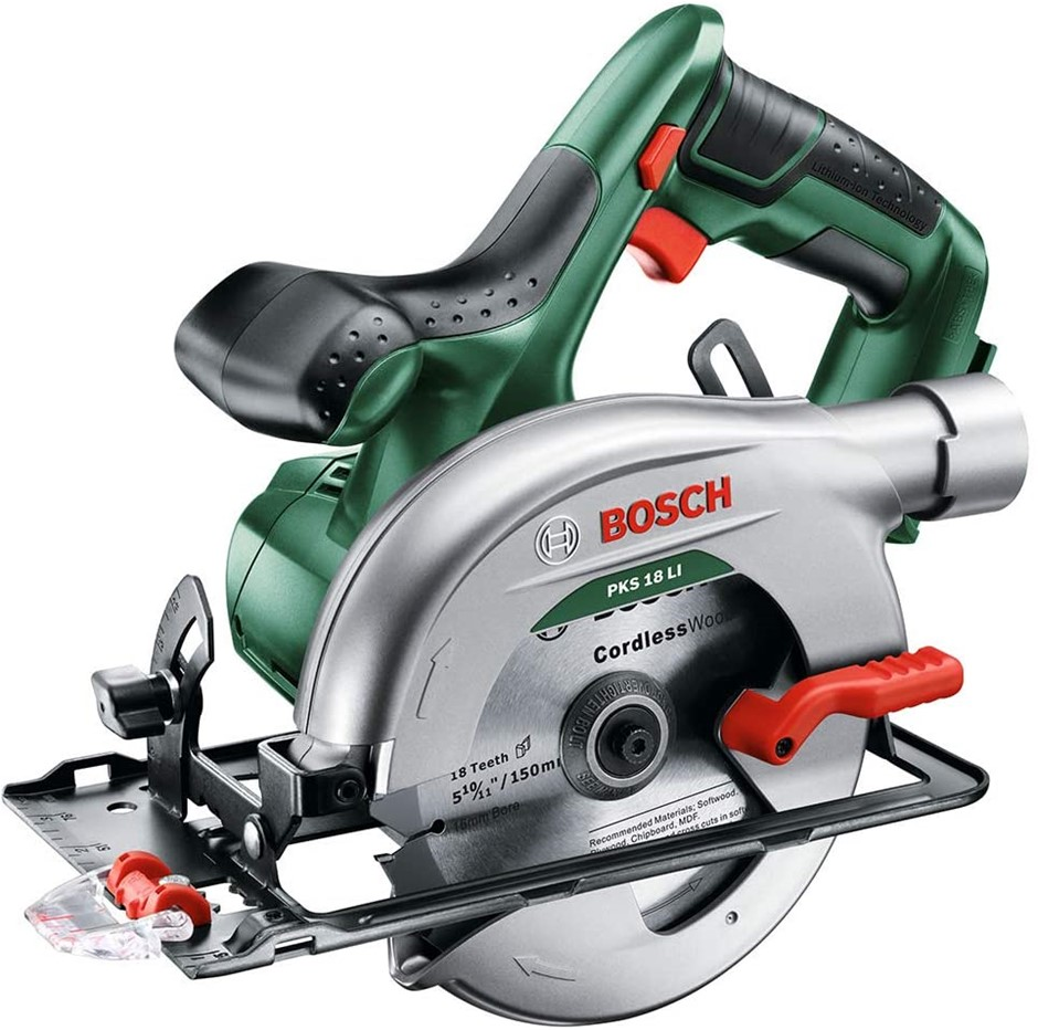 BOSCH 18V Cordless Circular Saw with Saw Blade. Skin Only. Buyers Note - Di