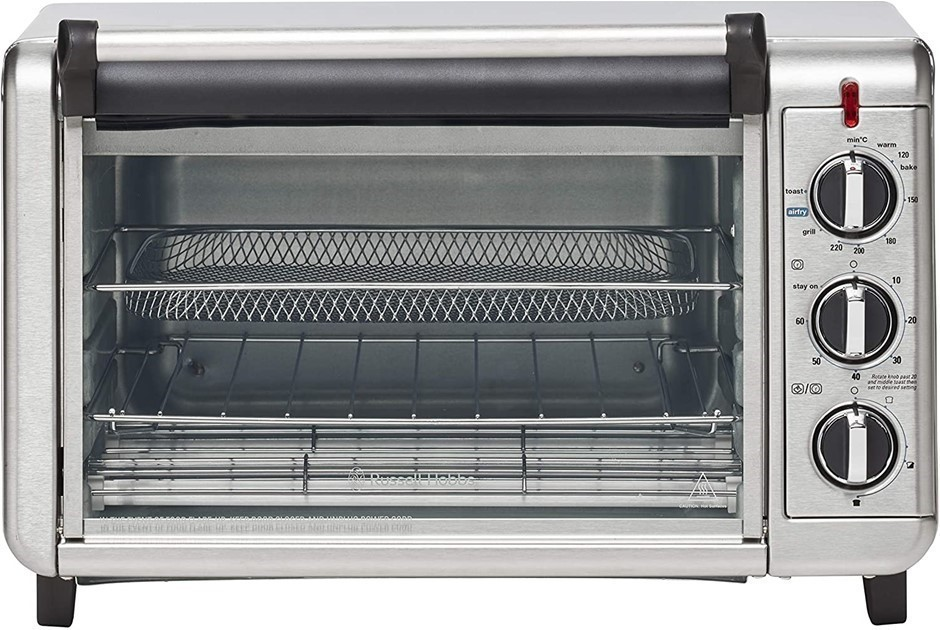 RUSSELL HOBBS Air Fry Crisp N Bake Toaster Oven, Model RHTOV25, 52 x 35 x 3