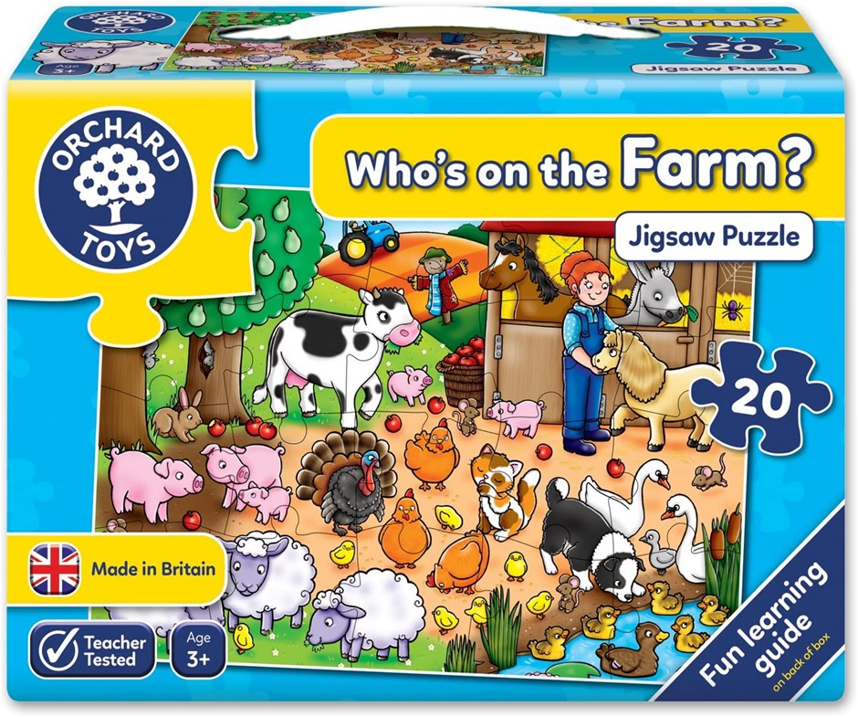 ORCHARD Toys, Who's On The Farm? Puzzle, 28.6 x 19.1 x 5.1cm. Buyers Note -