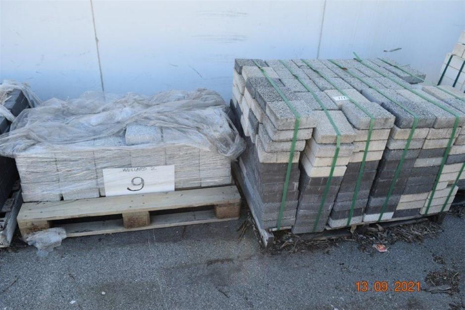 Lot of 400 Concrete Pavers - Various Colours