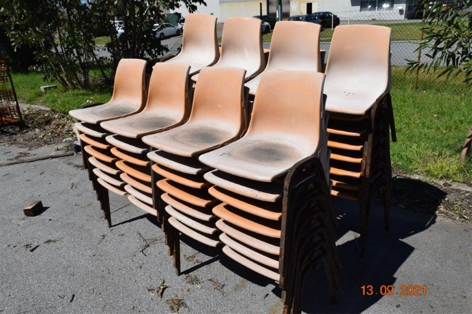 Lot of 15 Banks of 4 PVC Chairs Modules