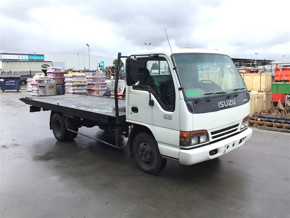 1997 Isuzu NPR 200 Medium 4 x 2 Tray Truck