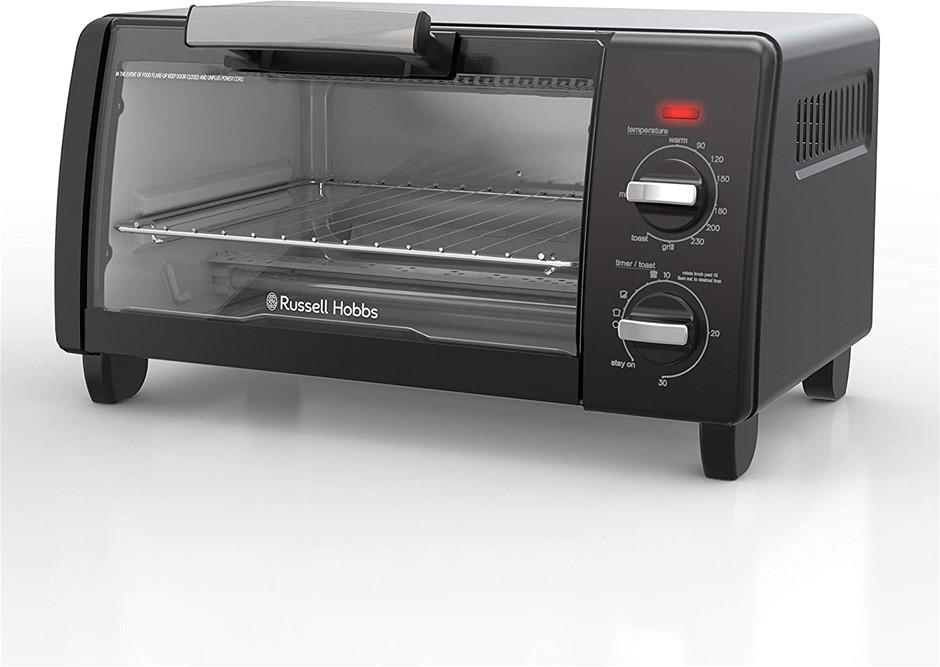 RUSSELL HOBBS Bake Expert Mini Toaster Oven, Natural Convection, Black, RHT