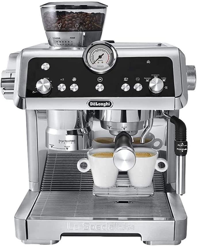 DELONGHI Espresso Coffee Machine Model EC9335M, Coffee Grinding and Tamping