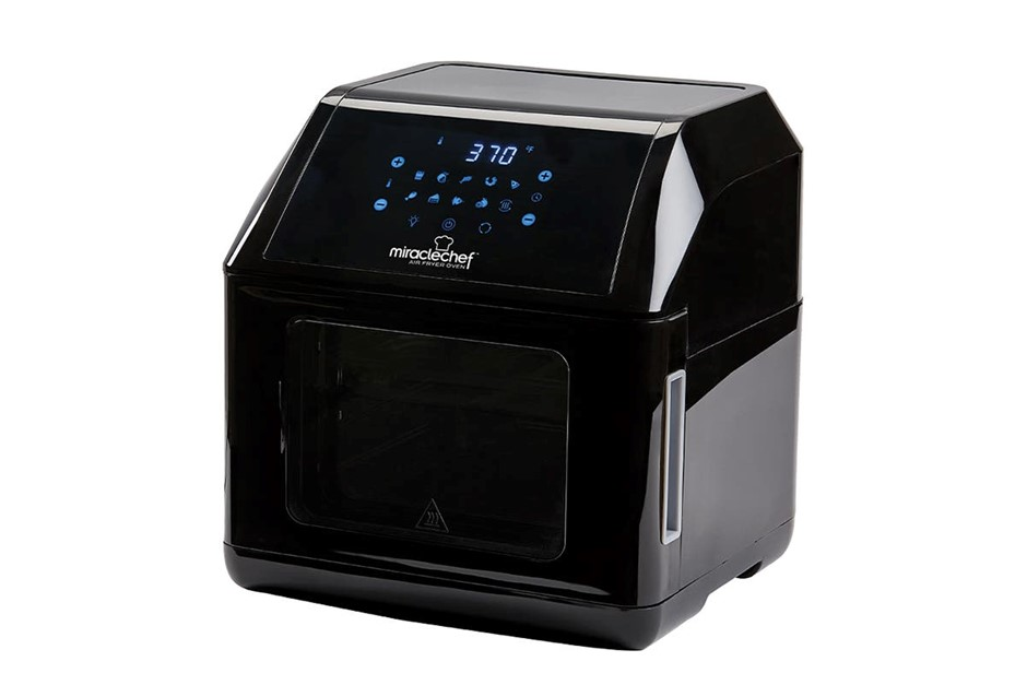 MIRACLE CHEF 10L Air Fryer Oven, Deluxe 7-in1 Multi Cooker, 1500W, Black, S