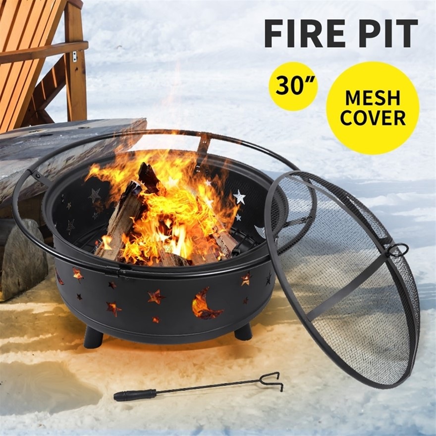 Outdoor Fire Pit BBQ Table Grill Garden Patio Heater Fireplace Brazier