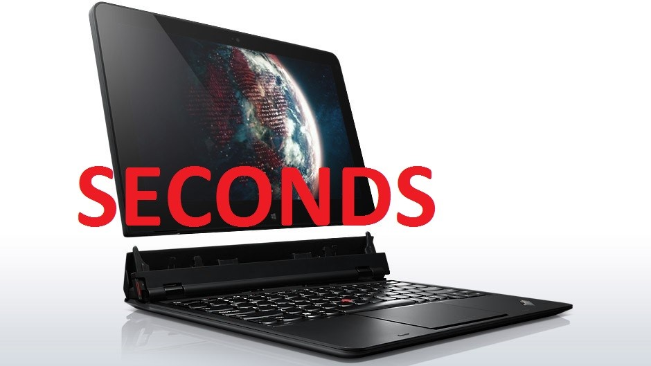 Lenovo ThinkPad Helix Convertible Ultrabook Laptop, Black