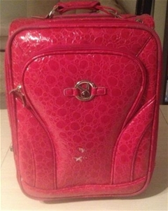 Playboy Bunny` Hot Pink Hand Luggage Suitcase with Expansion Zip ...