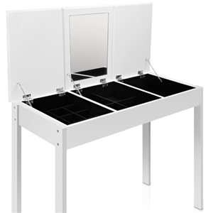 Buy 3 drawer dressing table jewellery cabinet w mirror for Dressing table cabinet