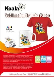 100gm A4 Dye Sublimation Paper (100 Sheets) For Koala Printers