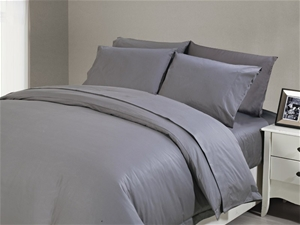 1200 TC Fitted Sheet Single Charcoal