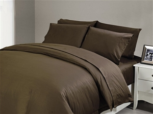 1200 TC Fitted Sheet Single Chocolate