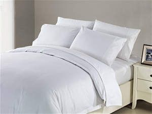 1200 TC Flat Sheet Single White Dobby Bo