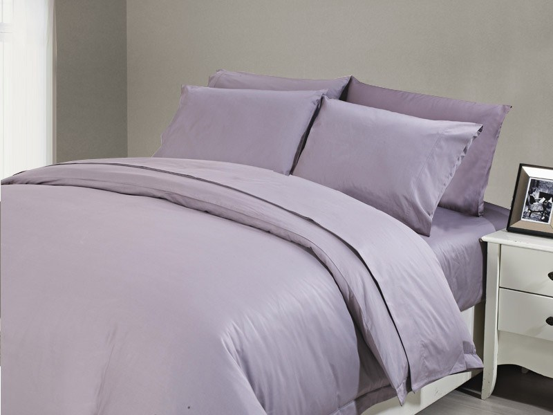 1200 TC Flat Sheet Single Lilac Mist