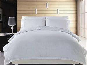 1200 TC Quilt Cover Set Queen White