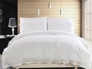 1200 TC Quilt Cover Set Double White Str