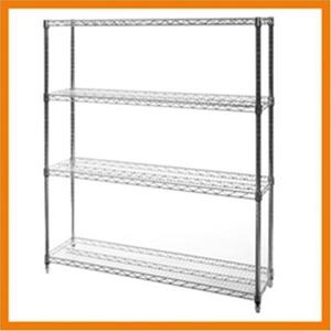 Chrome Wire Shelving Unit With 4 Shelves 120 X 45 X 90 Auction 0008 7116113 Graysonline