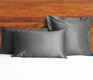 1200 TC Pillow Cases Charcoal x 2