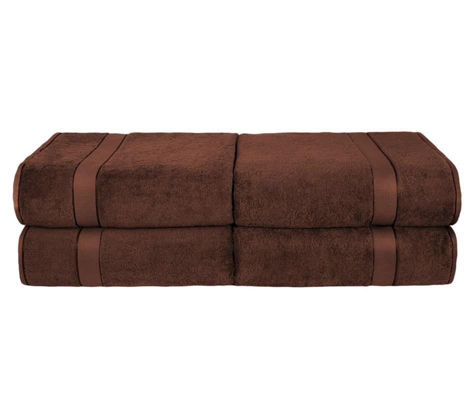 BeddingCo 700GSM Egyptian Cotton 4 Piece Bath Towel Set - Chocolate